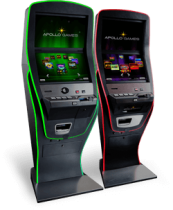 New Neos cabinet for casinos. Video lottery terminal with new games in html5. Best-selling VLT terminal with sleek, superior quality design and a robust durable build from  gambling machine manufacturer.